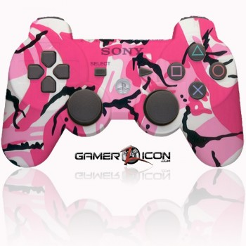 PS3 Modded Controller Pink Camo