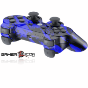 PS3 Savage Blue Modded Controller