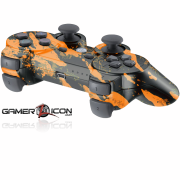 PS3 Savage Orange Modded Controller