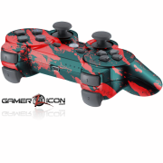 PS3 Savage Red Modded Controller