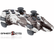 PS3 Savage White Modded Controller