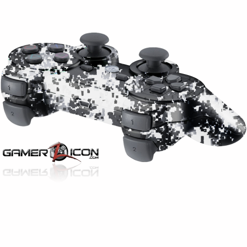 PS3 Winter Digital Camo Modded Controller