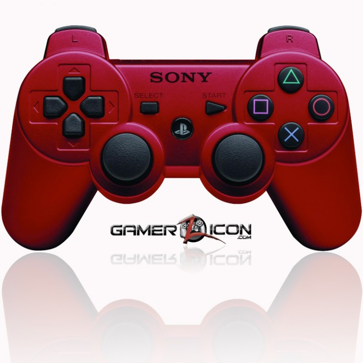 PS3 modded controller red