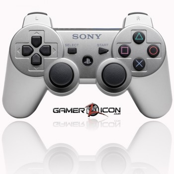 PS3 modded controller silver