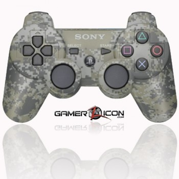 PS3 modded controller urban camo