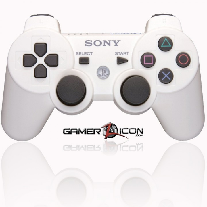 PS3 modded controller white