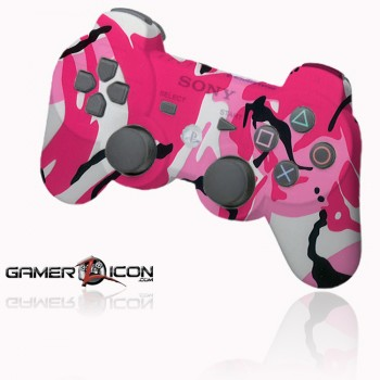 PS3 pink camo rapid fire controller