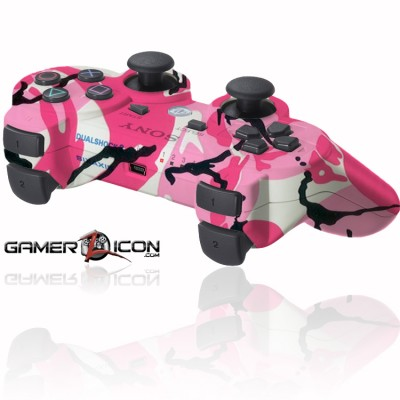 PS3 rapid fire controller pink camo