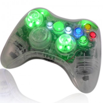 Crystal Green XCM Controller With LED Thumbsticks