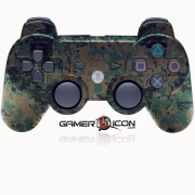 PS3 Modded Controller Digital Woodland Camo