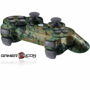 PS3 Woodland Digital Camo Modded Controller