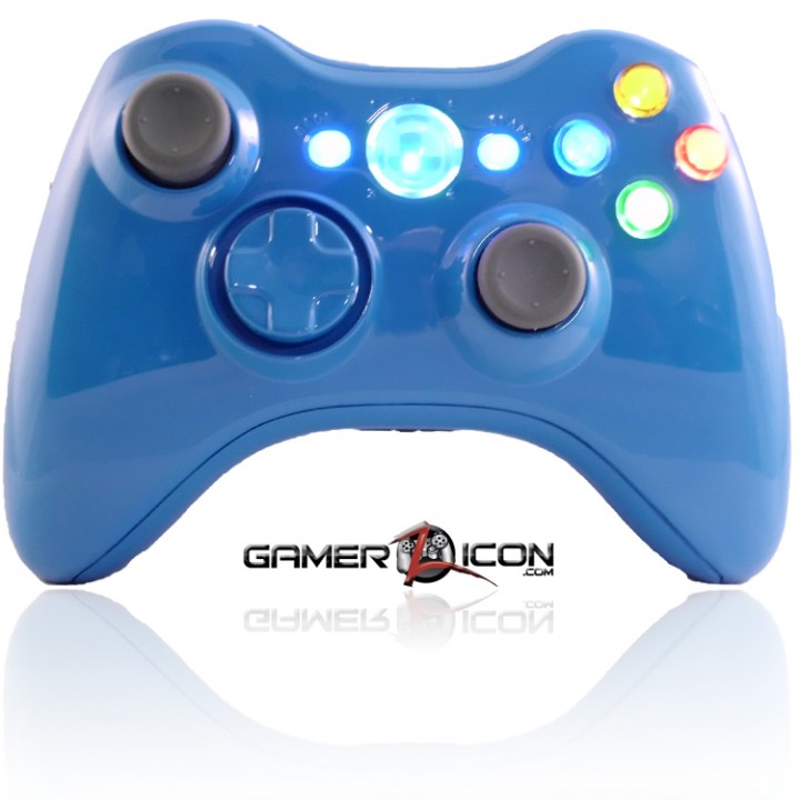 Xbox 360 Blue blood modded controller