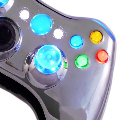 Xbox 360 Chrome Blue Controller