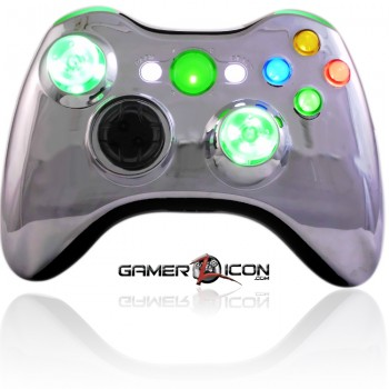 Xbox 360 Chrome Green Modded Controller