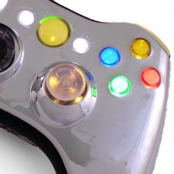 Xbox 360 Chrome Yellow Controller