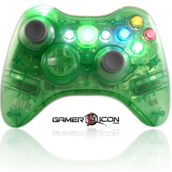 Xbox 360 Crystal Green modded controller