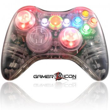 Xbox 360 Crystal Red modded controller
