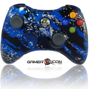 Xbox 360 Savage Blue modded controller