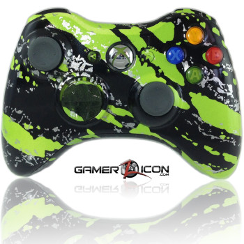 Xbox 360 Savage Green Modded Controller