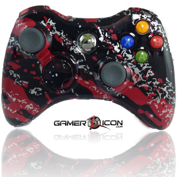 Xbox 360 Savage Red Modded Controller