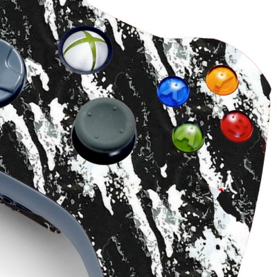 Xbox 360 Savage White Modded Controller