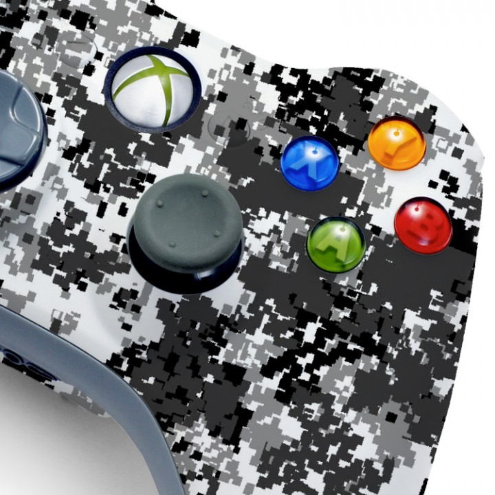 Xbox 360 WInter Camo modded controller