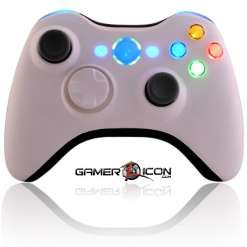 Xbox 360 White Black modded controller