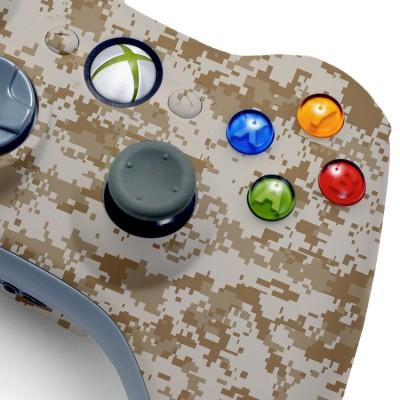 Xbox 360 desert camo modded controller