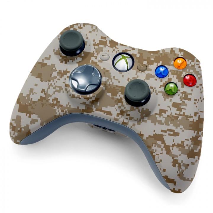 Xbox 360 desert camo rapid fire controller