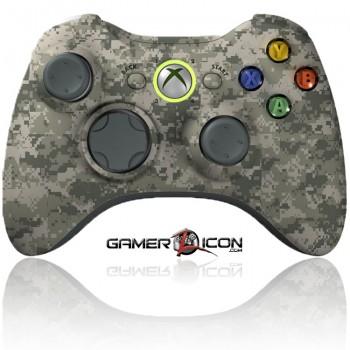 Xbox 360 modded controller army camo