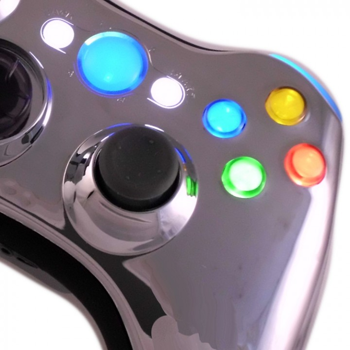 Xbox Chrome Modded Controller