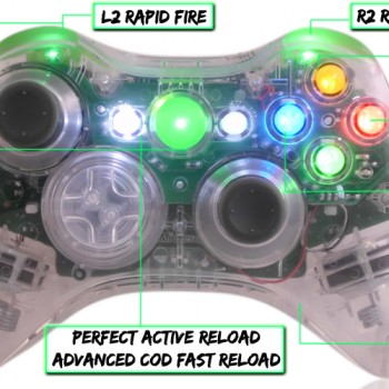 xbox 360 10 mode modded controller All Crystal Green