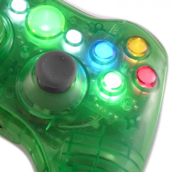 xbox 360 Crystal Green controller