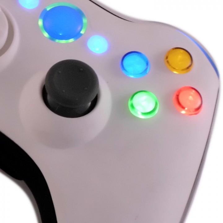 xbox 360 White Black controller