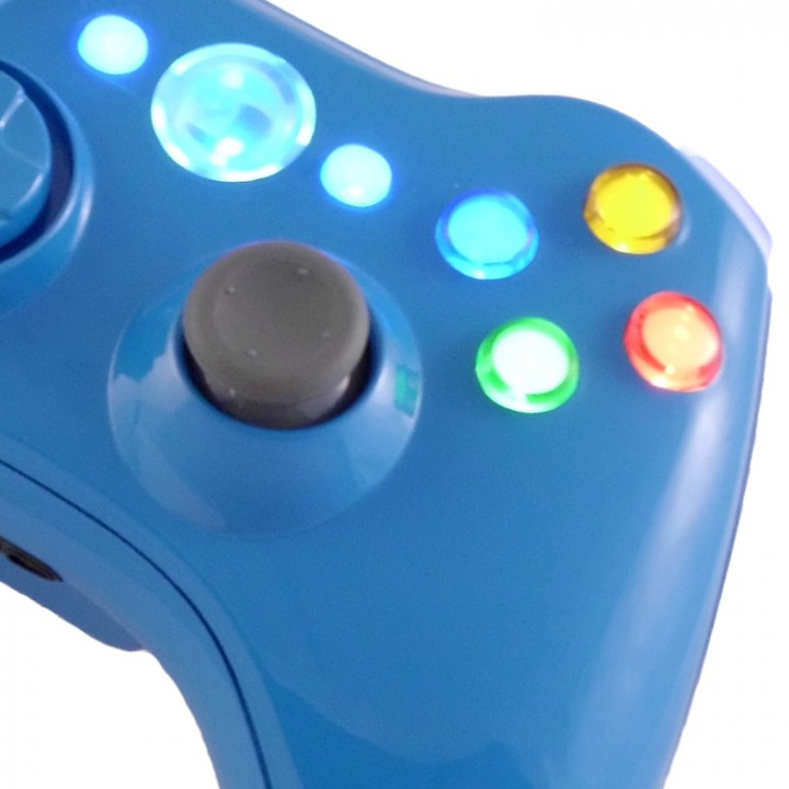 xbox 360 blue blood controller