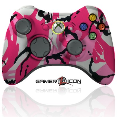 xbox 360 modded controller pink camo