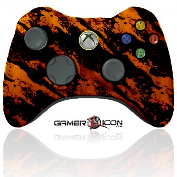 xbox 360 modded controller savage orange