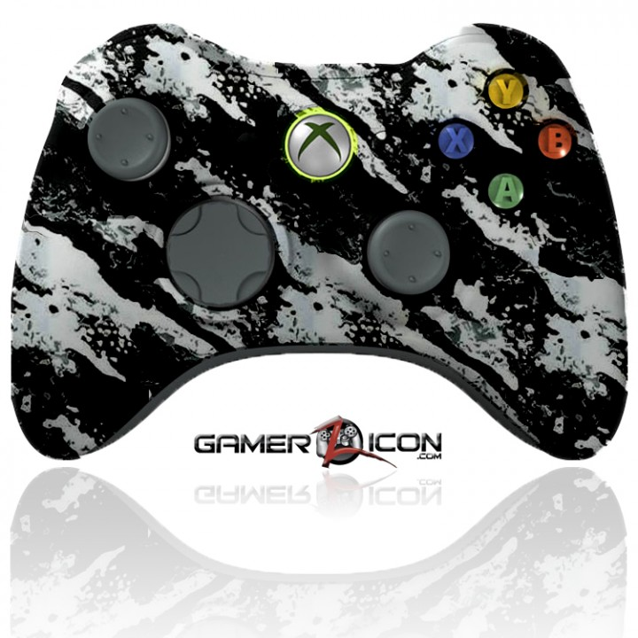 xbox 360 modded controller savage white