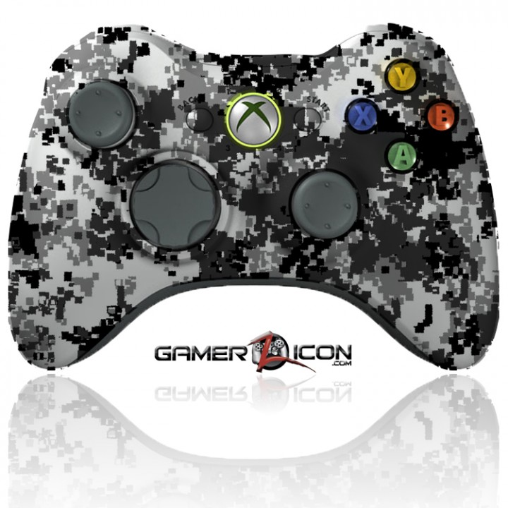 xbox 360 modded controller winter camo
