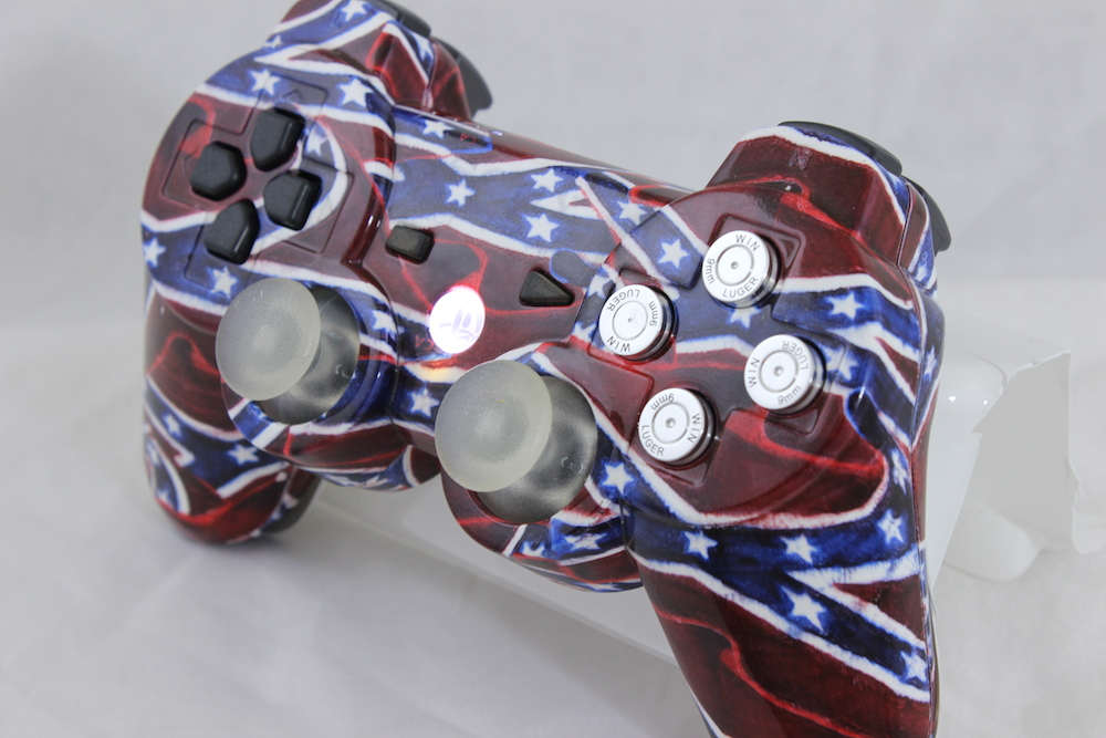 PS3 Custom Confederate Flag Controller