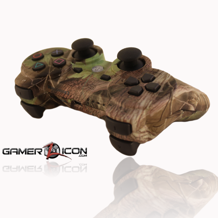 PS3 Controller Green Leaf Camo