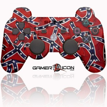 PS3 Modded Controller Confederate Flag