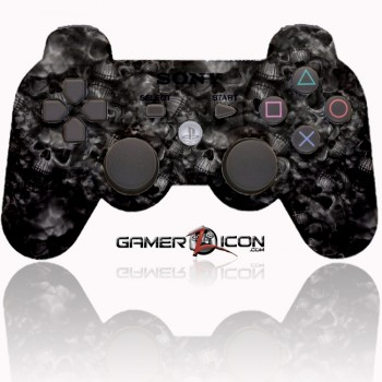 PS3 Modded Controller Dark Skulls