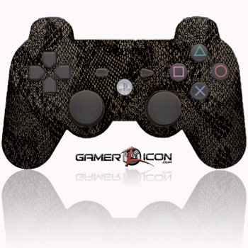 PS3 Modded Controller Dark Snake Skin