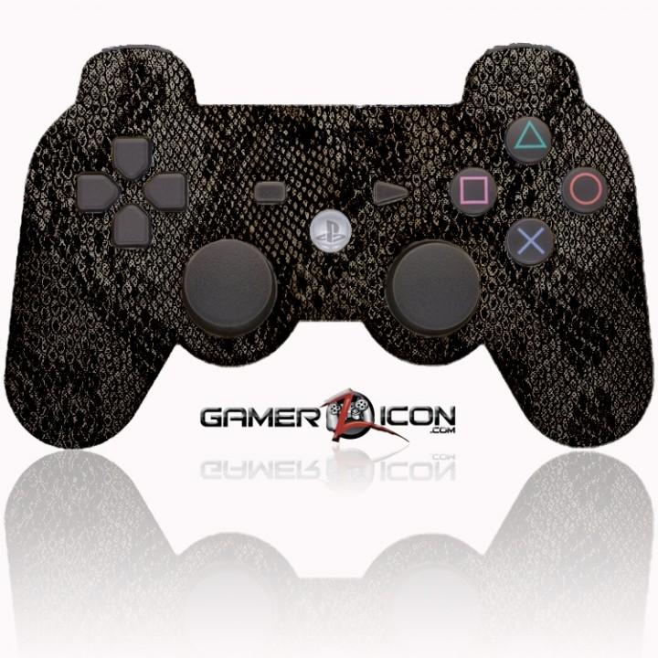 PS3 Modded Controller Dark Snake Skin