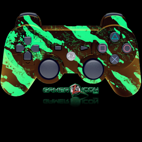PS3 Modded Controller Glow In Dark