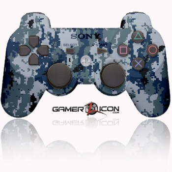 PS3 Modded Controller Navy Digital Camo