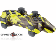 PS3 Modded Controller Savage Yellow
