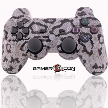 PS3 Modded Controller Snake Skin Light