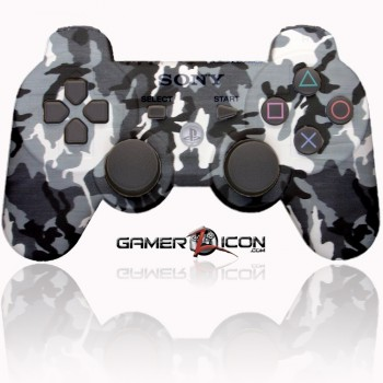 PS3 Modded Controller Urban Winter Camo
